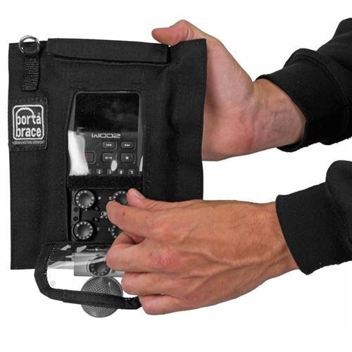 PortaBrace AR-ZH6 Audio Recorder Case, Zoom H6N, Black Bags
