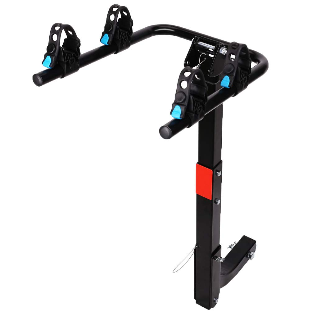 XCAR 2-Bike Bicycle Hitch Mount Carrier Rack Heavy Duty for Cars, Trucks, SUV s Hatchbacks Fit for 2 Hitch Receiver