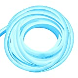 XUNATA 49.2ft LED Rope Neon Light, 110V Waterproof Flexible US Plug 1800 Units SMD 2835 LED Strip Lights for Home Indoor Outdoor Decoration (Blue)