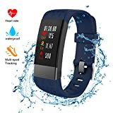 NickSea Fitness Tracker, Heart Rate Monitor Color Screen Smart Watch With Sleep Monitor, Step Counter, Message Reminder, IP67 Waterproof Activity Tracker for Android&iOS Smart Phone (Blue)