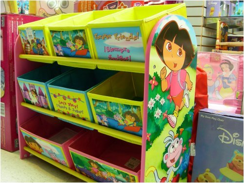 Dora the Explorer Delta Luv Toy Organizer with Cloth Bins