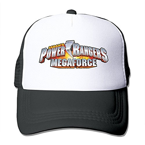 Power Rangers Mesh Snapback Trucker Baseball Hats Black