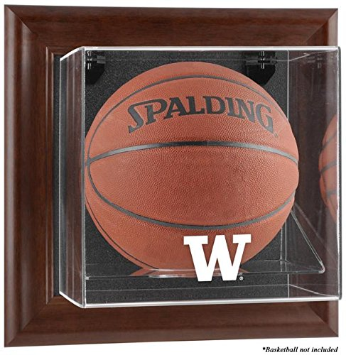 Washington Huskies Framed Wall Mountable Basketball Display Case by Sports Memorabilia