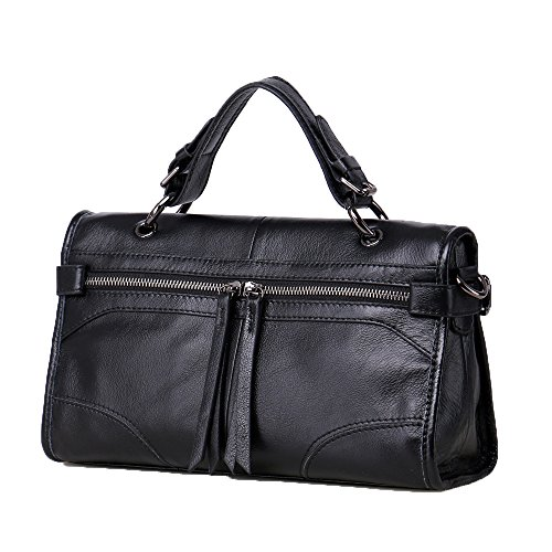 Bag Dual Material Cowhide Black Slung use Female Small Locomotive Elements Portable New Bag Classic PRqRYdw