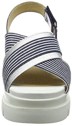 A Plateforme D Femme Radwa Geox Bleu navy white Sandales EUqnvIZwB