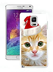 Popular Sell Christmas Cat White Samsung Galaxy Note 4 Case 4