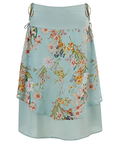 Joe Browns Damen Mittellanger, geblümter Chiffon-Stufenrock