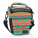DSLR Camera Case Bag with Top Loading Accesibility , Shoulder Sling and Weather Resistant Bottom by USA Gear - Works With Canon , Nikon , Sony , Pentax and More - Southwest