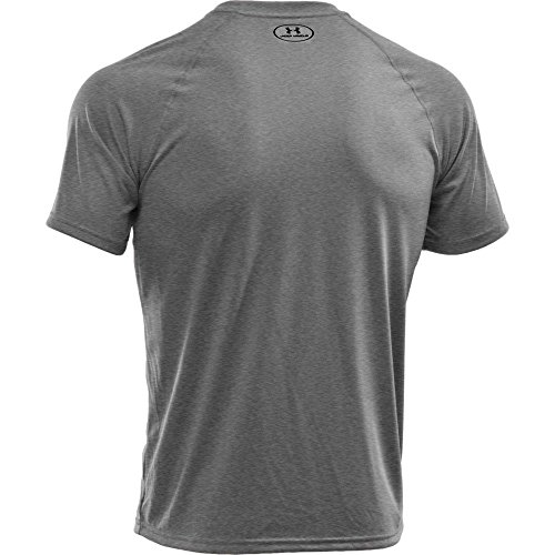 Under Armour Men's Tech Short Sleeve T-Shirt, True Gray Heather /Black, XXXXX-Large by Under Armour (Image #3)