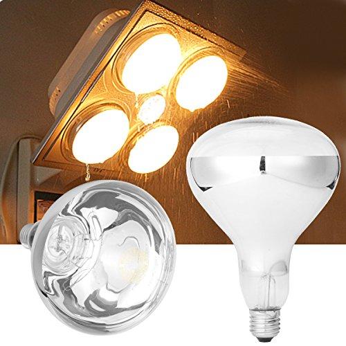RISHIL WORLD E27 275W Infrared Heat Bulb For Ceiling Exhaust Fan Bathroom Heater AC220V SINGLE ITEM. ()