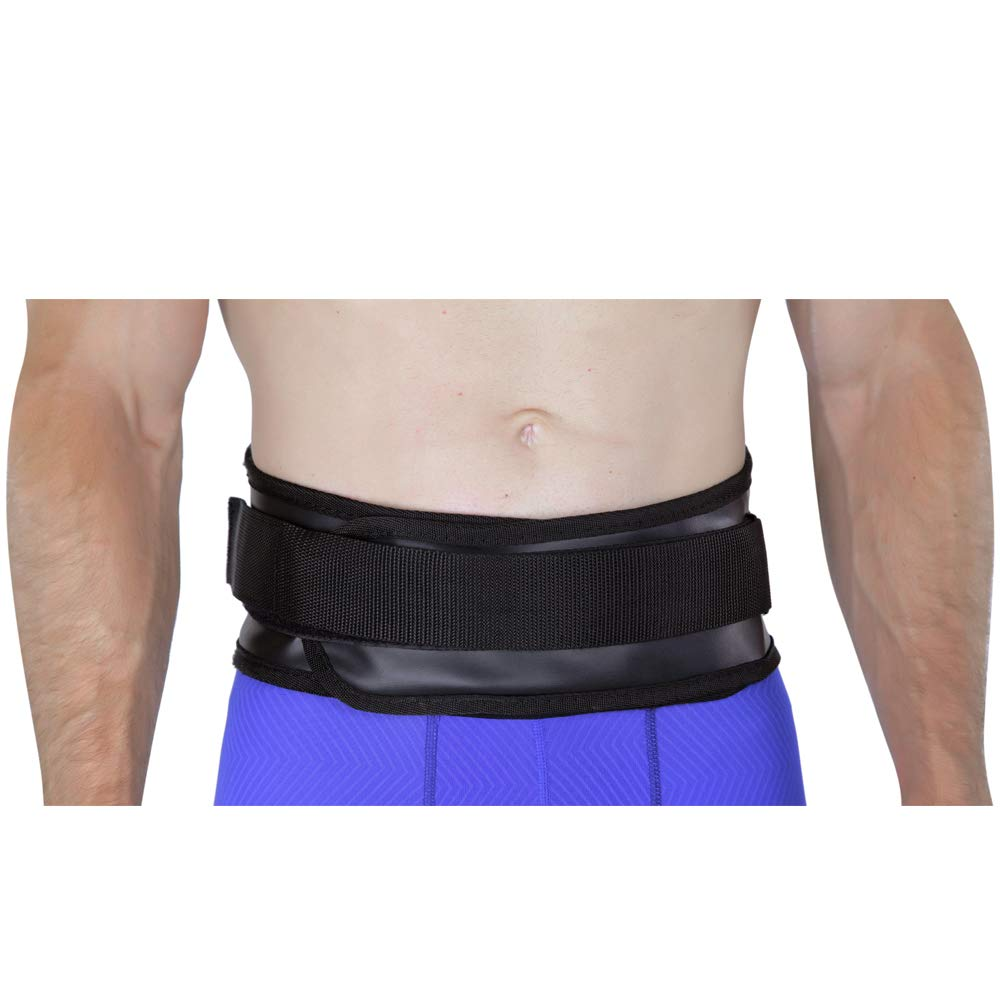 Medium Back-A-Line MotoSport Kidney Belt with Orthopedic Lumbar Pad Leatherette