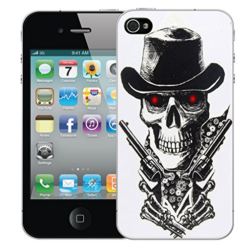 Mobile Case Mate iPhone 5 Silicone Coque couverture case cover Pare-chocs + STYLET - Skull Guns pattern (SILICON)