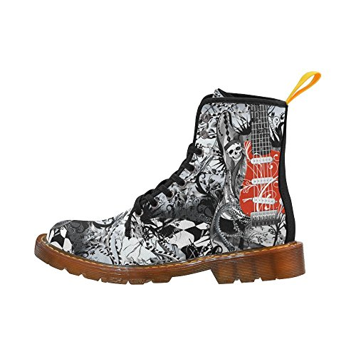 InterestPrint Martin Boots Guitar Grunge Gothic Art Unique Designed Lace Up Boots For Women