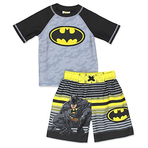Batman Boys Swim Trunks and Rash Guard Set (Toddler)
