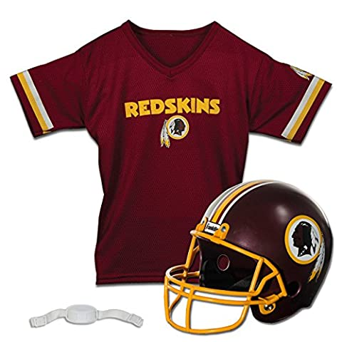 Franklin Sports NFL Washington Redskins Replica Youth Helmet and Jersey Set (Red Helmets For Kids)