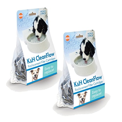 K&H Manufacturing CleanFlow Medium Replacement Filter Cartridges 3Pk by K&H Pet Products