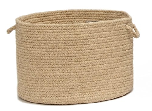 Colonial Mills Shear Natural Utility Basket, 14 by 10-Inch, Muslin