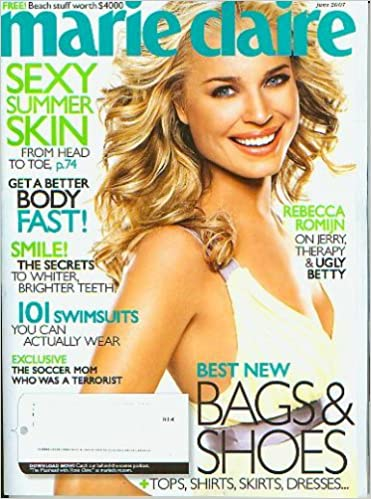marie claire june 2007 rebecca romijn swimsuits more