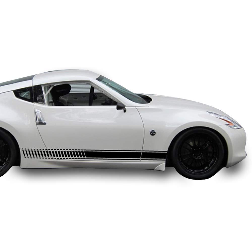 Amazon com bubbles designs 2x decal sticker vinyl side racing stripes compatible with nissan 370 z fairlady z z34 automotive