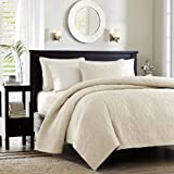 Madison Park Quebec 2 Piece Coverlet Set, Twin/Twin X-Large, Ivory