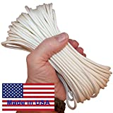 7-Strand Frozen Solid White Paracord / Parachute Cord 1,010 Ft. Spool. Guaranteed U.S. Made Military Survival Cord, Type III, 550 Lb. Break Strength for Projects and Bracelets. Includes Two Ebooks.