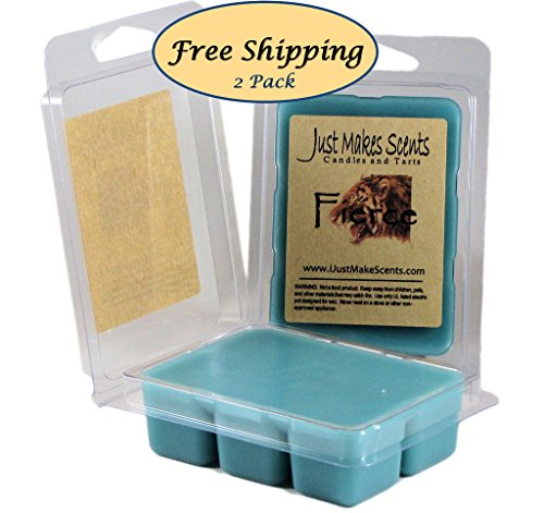 Price comparison product image 2 Pack - Fierce Scented Wax Melts - Compare to Abercrombie & Fitch - Hand Poured Blended Soy Wax Cubes Made in the USA by Just Makes Scents