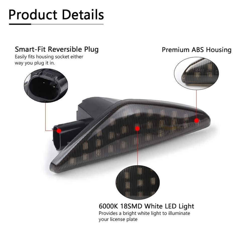 Febelle 2 Luces LED Intermitentes Laterales para BMW X5 E72 E71 E70 F25 X6 Color negro X3