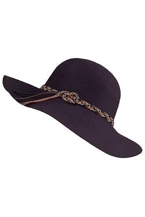 6662506e681 ScarvesMe Wool Felt Weaved Suede String Fashion Hat (Plum) at Amazon ...