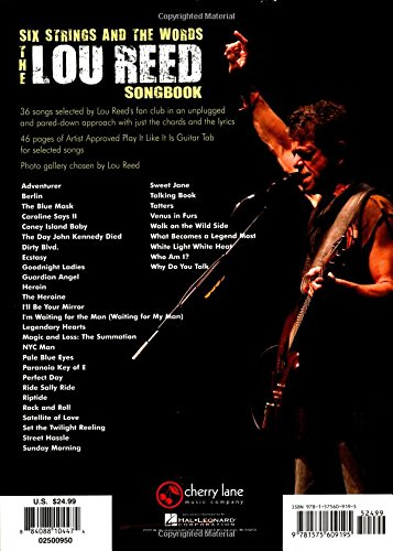 Amazon The Lou Reed Songbook Six Strings And The Words