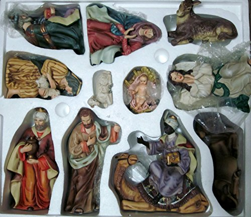 amazon com home interior 11 piece ceramic large nativity scene