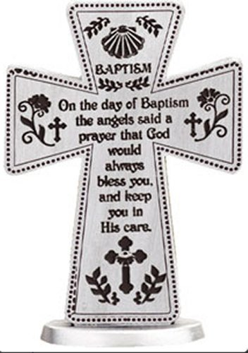 Baptism Gifts Standing Pewter Baptism Cross 3 Inch