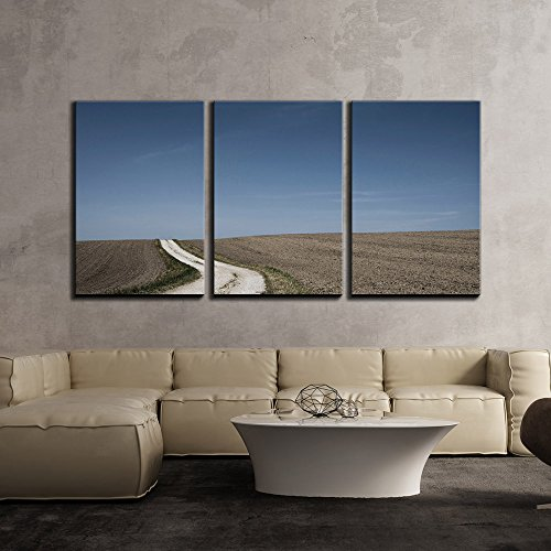 Nature Landscape with Curved Road x3 Panels