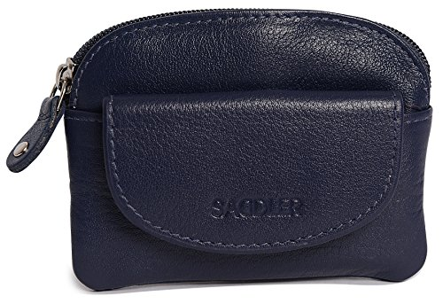 SADDLER Womens Leather Zip Top Coins Key Purse Front Flap Pocket - Peacoat Blue by Saddler (Image #2)'