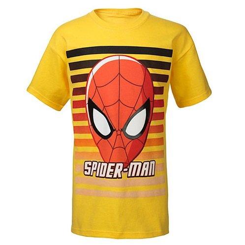 Abc Superhero Striped Big Spiderman Magliette Kids dtqwxZ