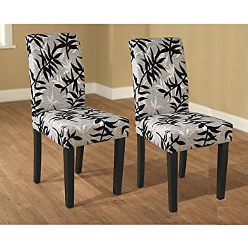 These Elegant Parson Chairs (Set Of 2) In Black And Silver Can Change The