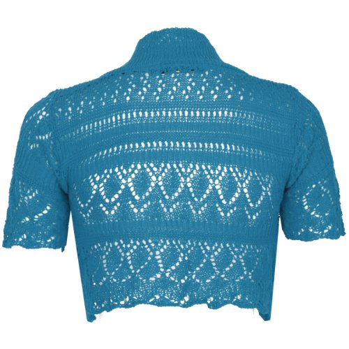 Rebeca de punto para mujer, disponible en varios tamaños y colores Azul