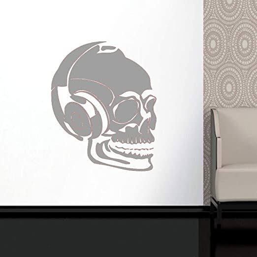 guijiumai Dctal Skull Music Halloween Headset Sticker Punk Death ...