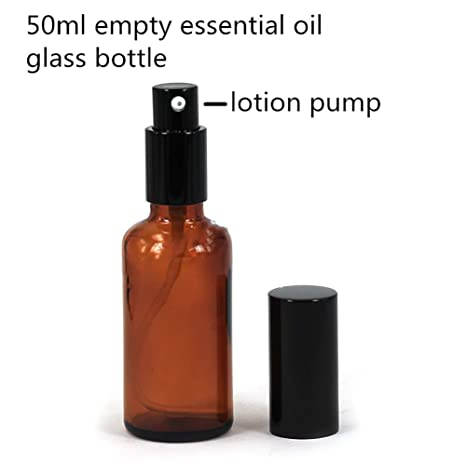 DDG EDMMS 1 Frasco de Vidrio ámbar de 50 ML vacío Botella de Spray Niebla Fina