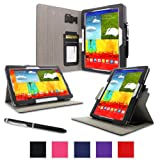 rooCASE Samsung Galaxy Tab Pro 10.1 / Note 10.1 2014 Case - Dual View Multi-Angle Stand Tablet Cover - BLACK (With Auto Wake / Sleep Cover)