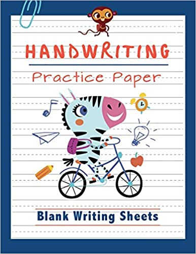Handwriting Practice Paper: Blank Writing Sheets Notebook for ...