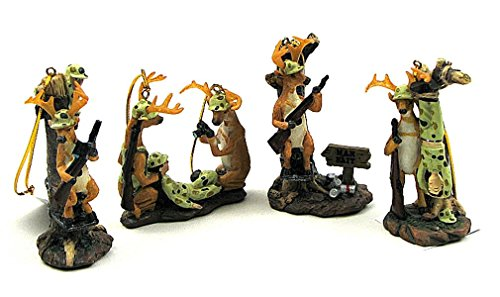 Ornaments 4 Assorted Priced Each (Comical Deer Hunter)