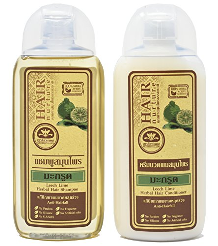Price comparison product image Leech Lime Herbal Hair Shampoo (6.76 fl.oz) & Conditioner (6.76 fl.oz) Set - 100% Natural Active Ingredient - Natural Treatment for Hair Loss!