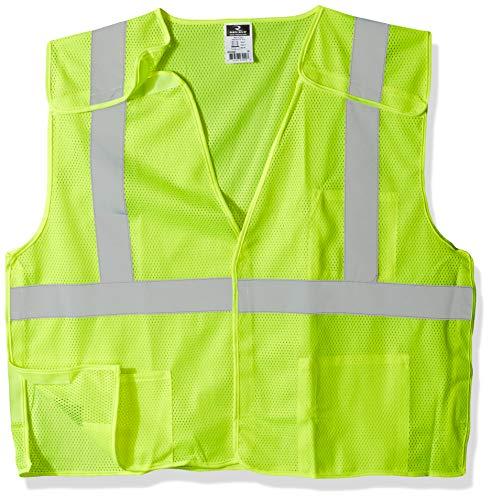 Radians SV4GMXL Economy Class 2 Breakaway Mesh Safety Vests, X-Large, Green