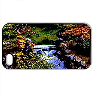 BEAUTIFUL PARK - Case Cover for iPhone 4 and 4s (Amusement Parks Series, Watercolor style, Black)