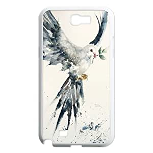 James-Bagg Phone case White dove pattern For Samsung Galaxy Note 2 Case FHYY390476