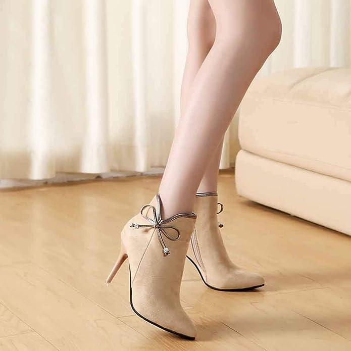Sandales de marche Lady Escarpins,Chaussures pour Femmes Bottes antidérapantes Chaudes et Pointues à la Cheville,Sandales Chaussures pour Femmes Bottes antidérapantes Chaudes et Pointues à la Cheville KA181212BA0815