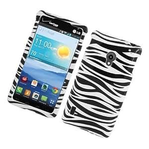 Cerhinu Eagle Cell PILGVS870G128 Stylish Hard Snap-On Protective Case for LG Lucid 2 VS870 - Retail Packaging - Zebra...