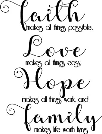 Epic Designs Faith Makes All Things Possible Love Makes All Things