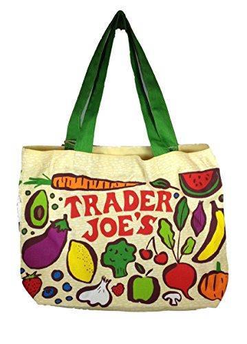 """Trader Joe's Heavy Duty Cotton Canvas """"Fresh Produce"""" Bag"""