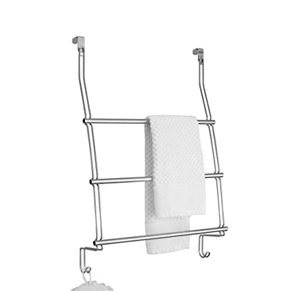 Image Unavailable. Image Not Available For. Color: 3 Tier Towel Bar Rack  Bathroom Accessory Hardware, Satin Nickel Over The Door